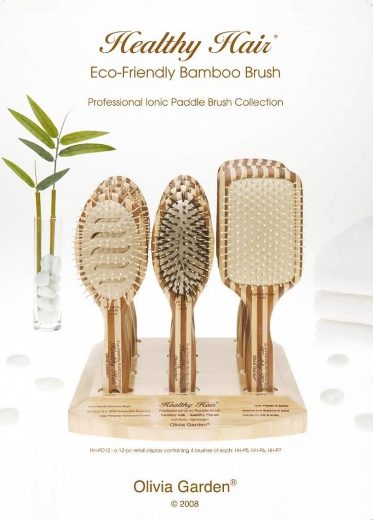 Olivia Garden Healthy Hair Borstel, Eco - Natuurlijke bamboe