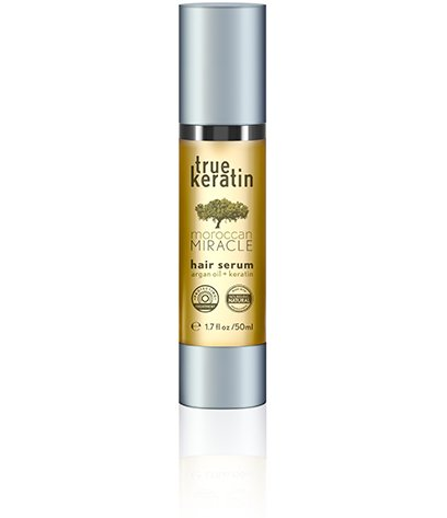 true keratin hair serum miracle with moroccan argan oil