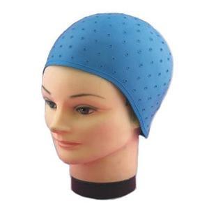 Mila Technic Blondeer hat with crochet hook, blue, latex