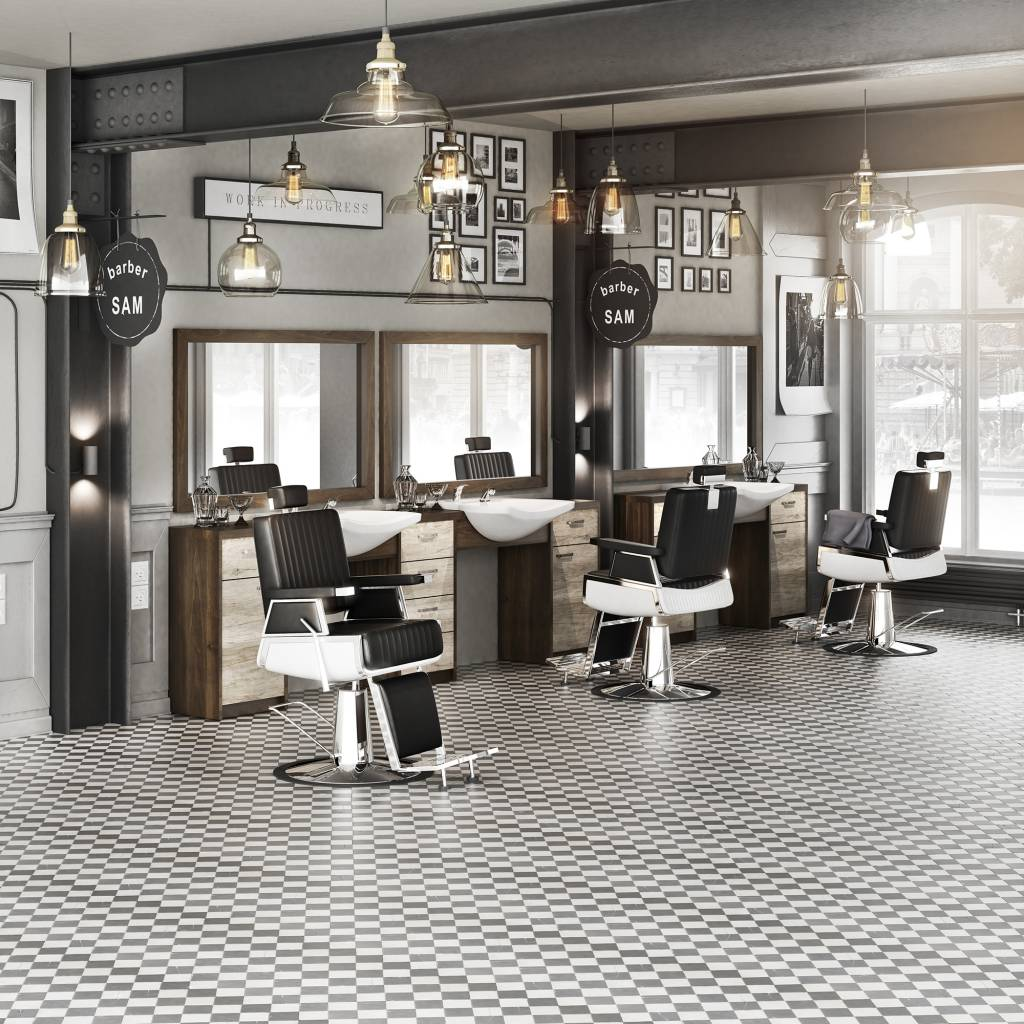 heren kapsalon meubelset barber retro kappers co professionele kappersprodukten. Black Bedroom Furniture Sets. Home Design Ideas
