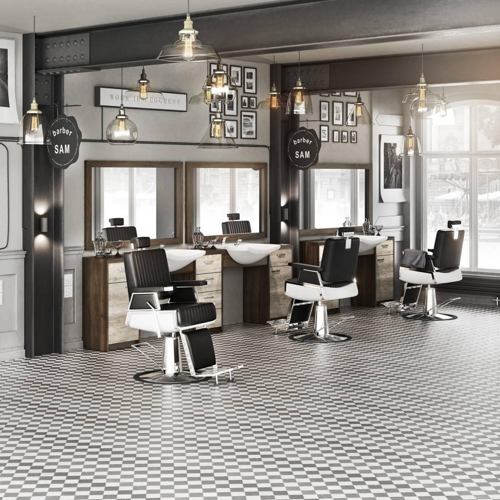 Panda men 39 s hair salon barber set retro men 39 s barber for Kapsalon interieur
