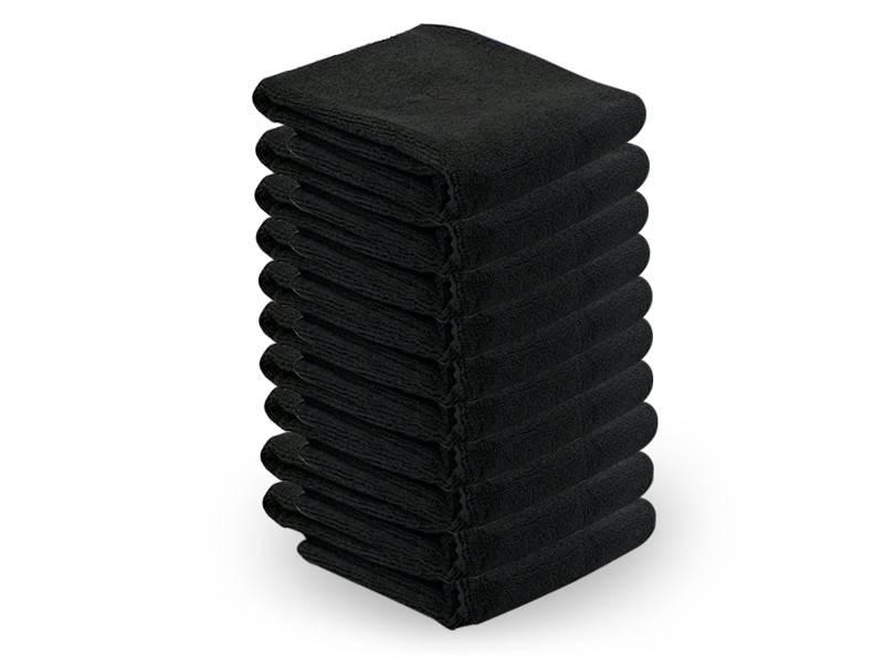 Activeshop® MICROFIBRE TOWEL 73X40CM 10PCS BLACK