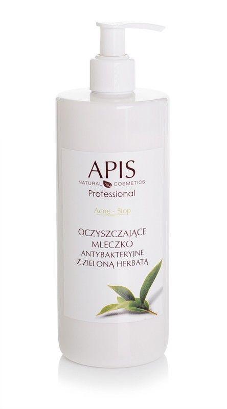 APIS Acne-Stop oczyszczające mleczko antybakt. z zieloną herbatą 500ml