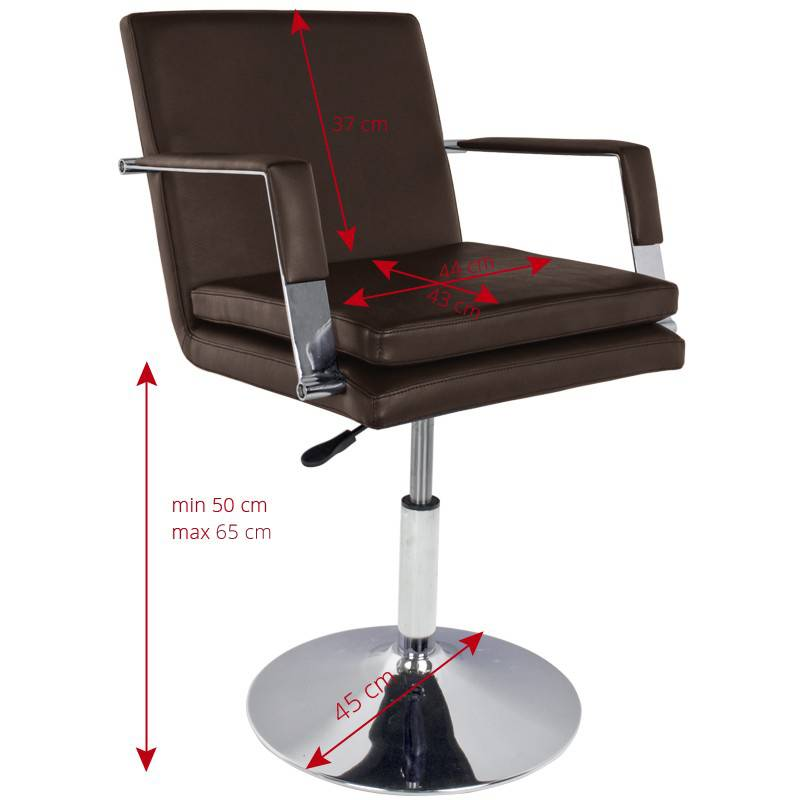 Gabbiano GABBIANOHAIRDRESSING CHAIR 049 BROWN