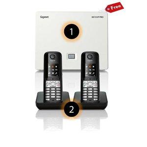 Gigaset 2 Gigaset S510H handsets + gratis Gigaset N510IP Basisstation