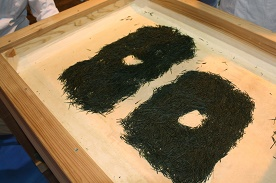 Groene thee productie