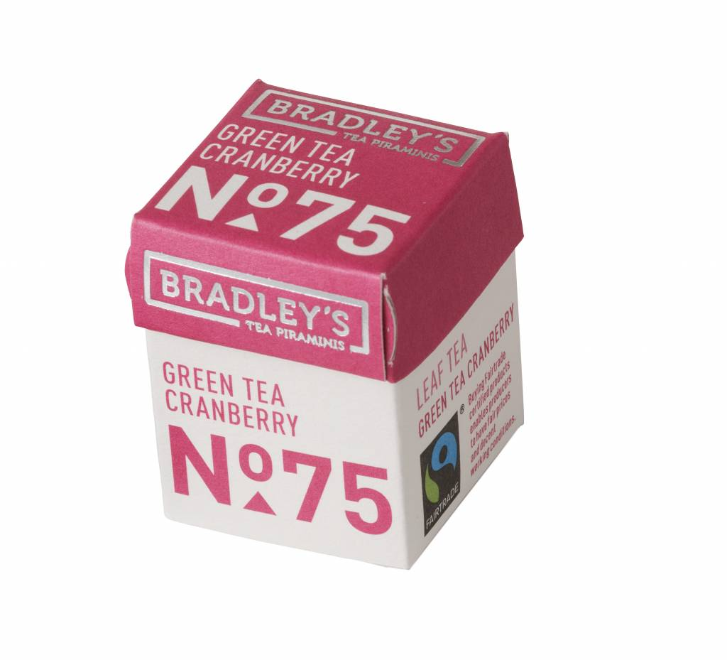 Bradley's Piramini Green Cranberry tea 75
