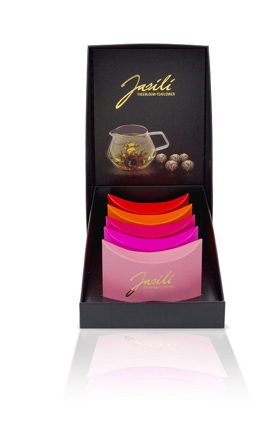 Jasili Theebloemen set van 5 smaken in kadoverpakking