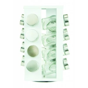S&P Kruidenrek wit met 16 potjes serie Soho