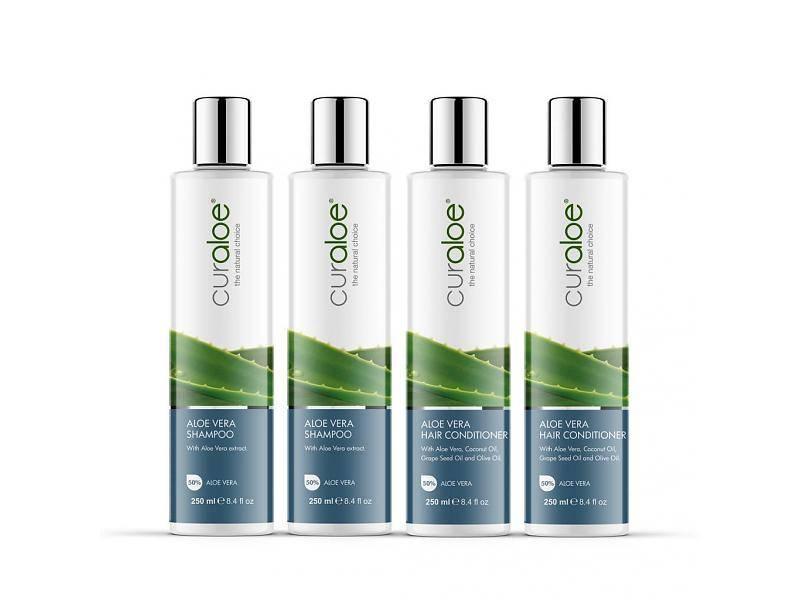 Curaloe® Shower Line   Shampoo U0026 Conditioner Aloe Vera Curaloe® (4 Bottles)