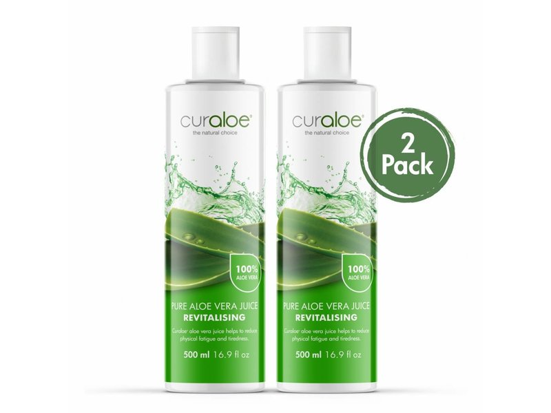 Curaloe® Health line - Pure Aloe Vera Juice 17.0 fl oz / 500ml - 2 pack Curaloe®