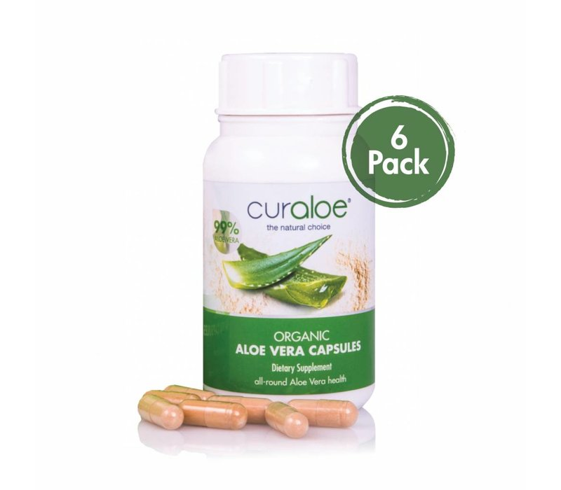 Health line - Organic Aloe Vera Capsules 6-pack Curaloe