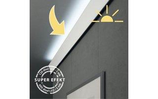 Vidella COMPLEET LED Systeem met 5 meter sierlijst met ophangsysteem, transformator, ledverlichting, lijm, eindkapje, afdeklijst incl. afstandbediening