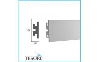 Tesori KD302 (120x40 mm), lengte 1,15 m - LED sierlijst voor indirecte verlichting XPS