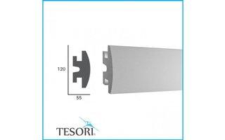 Tesori LED sierlijst voor indirecte verlichting XPS, KD306 (120 x55 mm), lengte 1,15 m