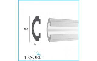Tesori KD112 (165 x 60 mm), lengte 1,15 m - LED sierlijst voor indirecte verlichting XPS