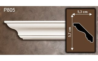 Grand Decor Kroonlijst P805 (57 x 53 mm), polyurethaan, lengte 2 m