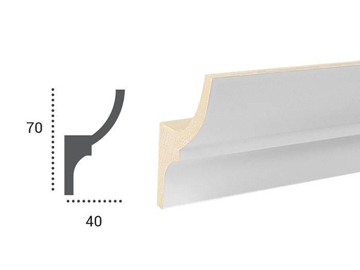 Polyurethaan - LED sierlijst voor indirecte verlichting, KF701 (70 x ...