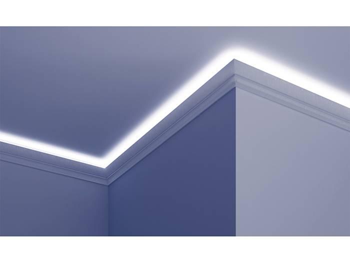polyurethaan led sierlijst voor indirecte verlichting kf701 70 x verlichting led plafond