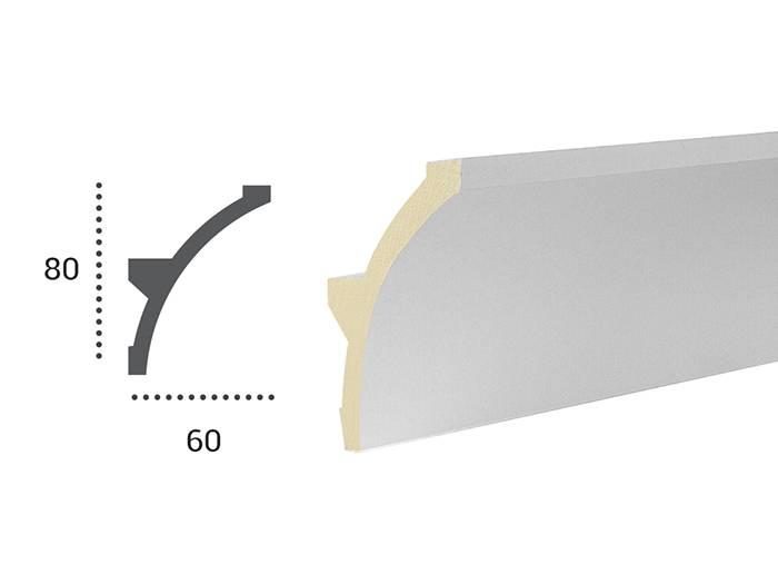 PU - LED sierlijst voor indirecte verlichting, KF702 (80 x 60 mm ...