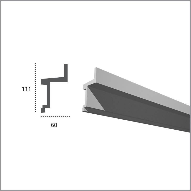 PU - LED sierlijst voor indirecte verlichting, KF705 (111 x 60 mm ...