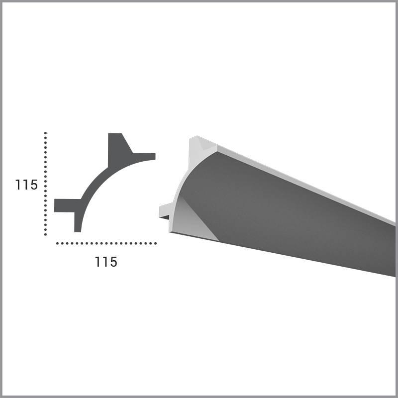 PU - LED sierlijst voor indirecte verlichting, KF706 (115 x 115 mm ...
