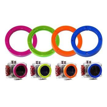 Intova 4-er Set farbige Ringe für Kamera Connex, Nova HD oder Sport HD II (blau, grün, orange, pink)