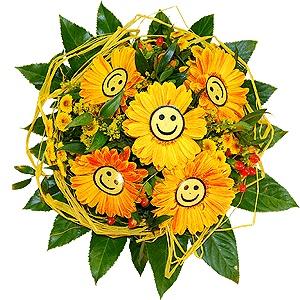 flotte Blumen Strauß Smile