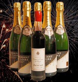 Anne de la Grézille Kir Partypaket - 5 Flaschen Crémant mit Cassislikör für den perfekten Apéritif-Cocktail