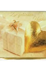 Karte  goldene Hochzeit