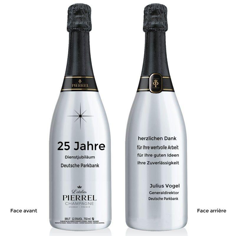 Champagner für ein Dienstjubiläum