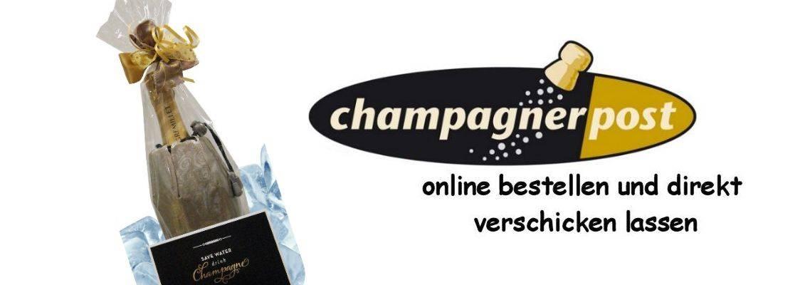 Champagnergeschenke online bestellen und direkt verschicken lassen, einfach Geschenk und Karte aussuchen, Liefertermin und Grußtext eingeben und ab geht die Post!