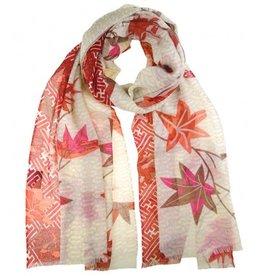 kuscheliger Schal für windige Herbsttage - in Rot- und Orangetönen