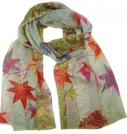 kuscheliger Schal für windige Herbsttage - in bunten Herbstfarben