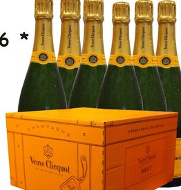 Veuve Clicquot Champagner 1 Karton mit 6 Flaschen Brut 0,75 l