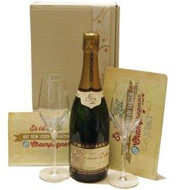 Gorisse-Debas Champagner Champagnergeschenk Tanzen & Genießen mit zwei Champagnergläsern