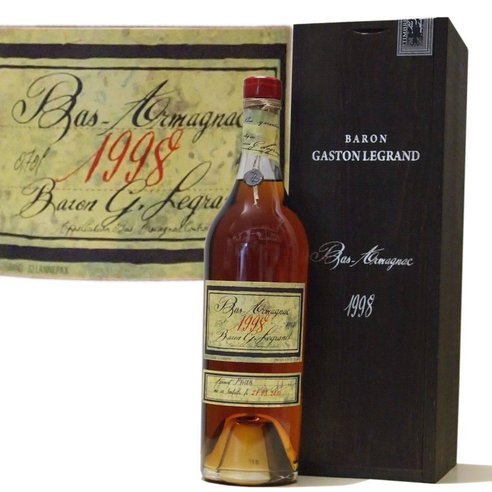 Baron Gaston Legrand 20 Jahre alter Armagnac Jahrgang 1998
