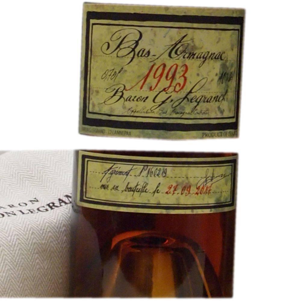 Baron Gaston Legrand 25 Jahre alter Armagnac Jahrgang 1993