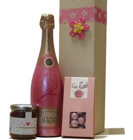 Duval-Leroy Champagner Frühstück in Pink
