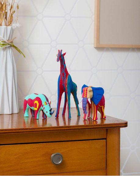 Ocean Sole Safari set (Elephant, Giraffe and Rhino)