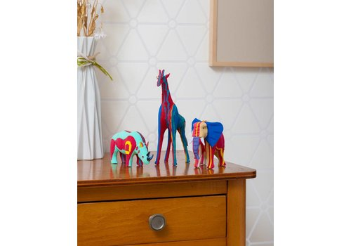 Ensemble Safari (Éléphant, Girafe et Rhinocéros)