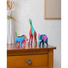 Ocean Sole Ensemble Safari (Éléphant, Girafe et Phacochère)