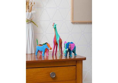 Safariset (Olifant, Giraffe en Wrattenzwijn)