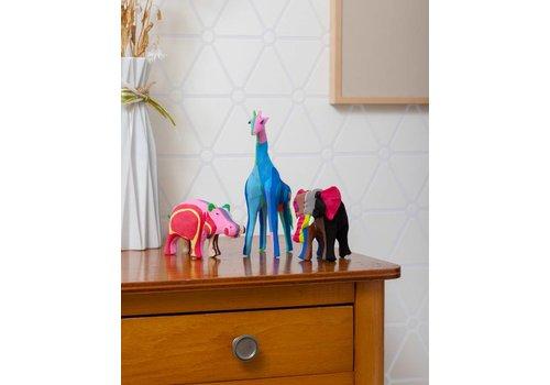 Ensemble Safari (Éléphant, Girafe et Hippopotame)
