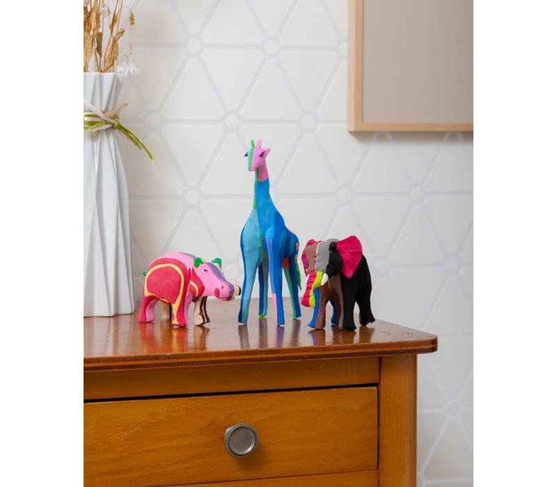 Safari set (Elephant, Giraffe and Hippo)