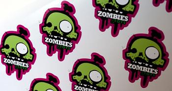 Contour gesneden stickers