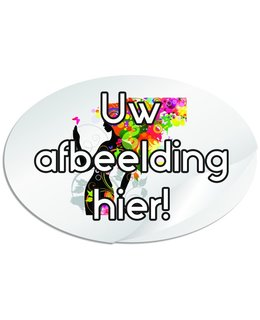Ovale stickers 120 x 80 mm (12 x 8 cm)