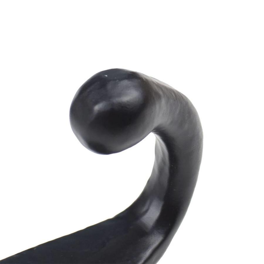 Gusseisen Kleiderhaken einzeln - schwarz