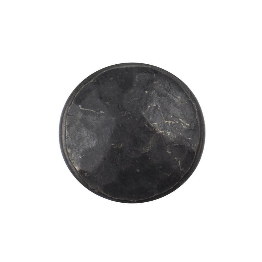 Gusseisen Möbelknopf 20mm - schwarz