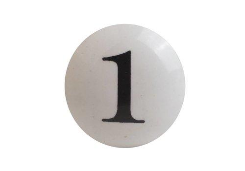 Keramik Möbelknopf Nummer 1